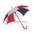 . Automata esernyő, hajlított fa nyéllel, csíkos