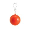 Esőkabát, gömb tokkal, narancs