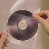 CD tartó zseb, kiszedő réssel, öntapadó, 127x127 mm, 3L