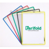 TARIFOLD Bemutatótábla, függő, A4, álló, fém fülecskével, TARIFOLD, sárga