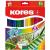 KORES Akvarell ceruza készlet, hegyezővel, ecsettel, KORES, 24 különböző szín