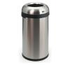 VEPA BINS Nyitott tetejű szemetes, rozsdamentes acél, 60 l, VEPA BINS, ezüst szemetes