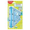 MAPED Vonalzókészlet, kicsi, műanyag, hajlítható, 4 darabos, MAPED