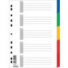 DONAU Regiszter, műanyag, A4, 5 részes, DONAU, színes