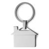 . Kulcstartó, ház formájú, fém, ezüst