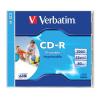 Verbatim CD-R lemez, nyomtatható, matt, ID, 700MB, 52x, normál tok, VERBATIM
