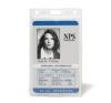 Azonosítókártya tartó, műanyag, függőleges, 61x104 mm, 3L névkitűző