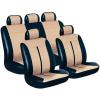 Conrad Eufab Buffalo, műbőr üléshuzat készlet, 11 részes, fekete, bézs, univerzális
