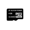 Silicon Power MICRO SDHC CARD 4GB CL4 Adapter nélküli