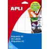 APLI Etikett, 105x148 mm, A5 hordozón, APLI, 30 etikett/csomag