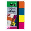 """SIGEL Jelölőcímke, műanyag, 4x40 lap, 20x50 mm, SIGEL """"614"""", vegyes szín"""