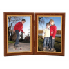 ". Képkeret, 10x15 cm, """"Firenze"" Duo"", barna arannyal"