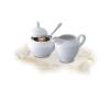 """ROTBERG Tejszínkiöntő, porcelán, 15 cl, ROTBERG """"Basic"""", fehér tányér és evőeszköz"""