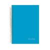 NOTTE Spirálfüzet 3in1 -40-822- Pastel kék A/4 120 lap KOCK.NOTTE