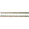 Gama Lépték vonalzó -601- arányai:2:1,1:1,1:2,1:2,5 1:5,1:15 ICO GAMA
