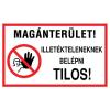 NO NAME Információs matrica - FP115 - 400x250 mm MAGÁNTERÜLET! Illetékte