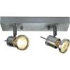 Conrad Mennyezeti-, fali fényszóró, 260 mm x 65 mm x 100 mm, 230 V/50 Hz, GU10, max. 2 x 50 W, alumínium (matt), SLV Asto Spot II 147442