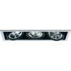 Conrad Downlight, beépíthető, 3 x 100 W, G5.3, AR111, halogén fényforrás, fekete-fehér, Sygonix Croux 34866RC
