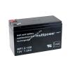 Multipower Ólom akku 12V 7,2Ah (Multipower) típus MP7,2-12B - VDS-minősítéssel (csatlakozó: F2)