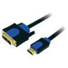 Conrad HDMI/DVI kábel, fekete, 3 m, LogiLink CHB3103