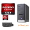 Komplett számítógép: AMD FX-4100 AM3+ 3,6GHz 4 magos CPU