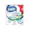 Háztartási papírtörlő, 2 rétegű, 2 tekercses, Sindy (KHH292)