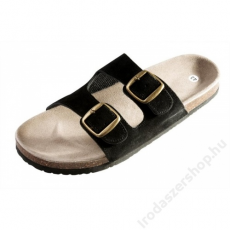. Papucs, 45-es méret, fekete (ME798)