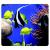 FELLOWES Egéralátét, újrahasznosított, FELLOWES Earth Series™, tengeri halak (IFW59093)