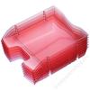 HELIT Irattálca, műanyag, törhetetlen, HELIT Nestable Green Logic, áttetsző piros (INH2363520)