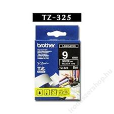 Brother Feliratozógép szalag, 9 mm x 8 m, BROTHER, fekete-fehér (QPTTZ325) fénymásolópapír