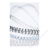 FELLOWES Spirál, fém, 10 mm, 51-80 lap, FELLOWES, fehér (IFW53262)