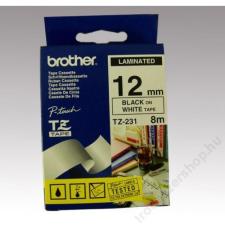 Brother Feliratozógép szalag, 12 mm x 8 m, BROTHER, fehér-fekete (QPTTZ231) fénymásolópapír
