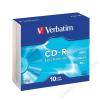 Verbatim CD-R lemez, 700MB, 52x, vékony tok, VERBATIM DataLife (CDV7052V10DL)