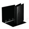 ESSELTE Gyűrűs dosszié, panorámás, 4 gyűrű, 50 mm, A4, PP/PP, ESSELTE, fekete (E49717)
