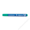 DONAU Alkoholos marker, 2-4 mm, kúpos, DONAU D-signer U, zöld (D7371Z)