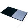 PANTA PLAST Névjegytartó, 400 db-os, gyűrűs, PANTAPLAST, fekete (INP361112F)