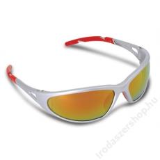 . Védőszemüveg, tükrös, fényvédő lencsével, Freelux, piros (MEF1)