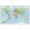 Stiefel Falitérkép, 100x140 cm, fémléces, Föld országai, STIEFEL (VTS47FL)