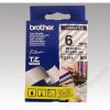 Brother Feliratozógép szalag, 6 mm x 8 m, BROTHER, átlátszó-fekete (QPTTZ111)
