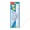 MAPED Vonalzókészlet, műanyag, 4 darabos, MAPED Graphic (IMA242767)
