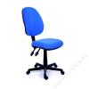 MAYAH Irodai szék, kék szövetborítás, fekete lábkereszt, MAYAH Happy Plus (BBSZVV07)
