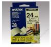 Brother Feliratozógép szalag, 24 mm x 8 m, BROTHER, fehér-fekete (QPTTZ251) fénymásolópapír