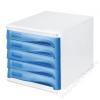 HELIT Irattároló, műanyag, 5 fiókos, HELIT, szürke/kék (INH6129484)