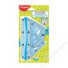 MAPED Vonalzókészlet, kicsi, műanyag, hajlítható, 4 darabos, MAPED Flex (IMA244069)