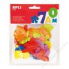 APLI Moosgumi, betűk, APLI Eva Sheets, vegyes színek (LCA13074)