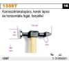 Beta 1359T karosszériakalapács, kerek lapos és horizontális fejjel, fanyéllel kalapács