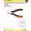 Beta 1191BM speciális elektronikai homlokcsípőfogó, ferde vágóéllel, bimateriális szár