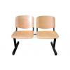 LIN-ISO Wood 2P, fa várótermi pad (2 üléses)