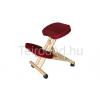 LIN-Wood favázas térdeplőszék, textilbőr