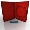 Amaray DVD tok 14mm piros